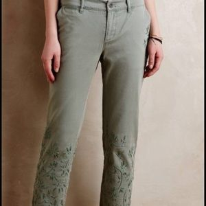 Pilcro and the letterpress Hyphen Embroidery Pant